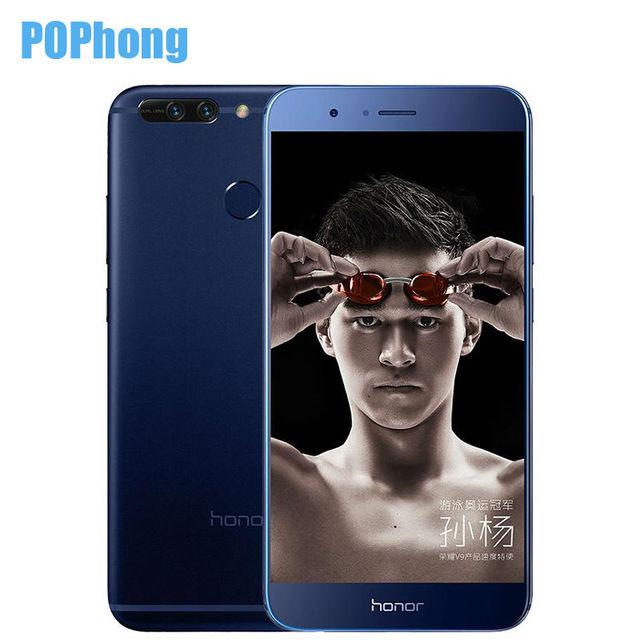 Original Huawei Honor V9 6GB RAM 64GB ROM Kirin 960 Octa Core Mobile Phone 2K Screen 5.7 inch Dual SIM Android 7.0 QuickCharger