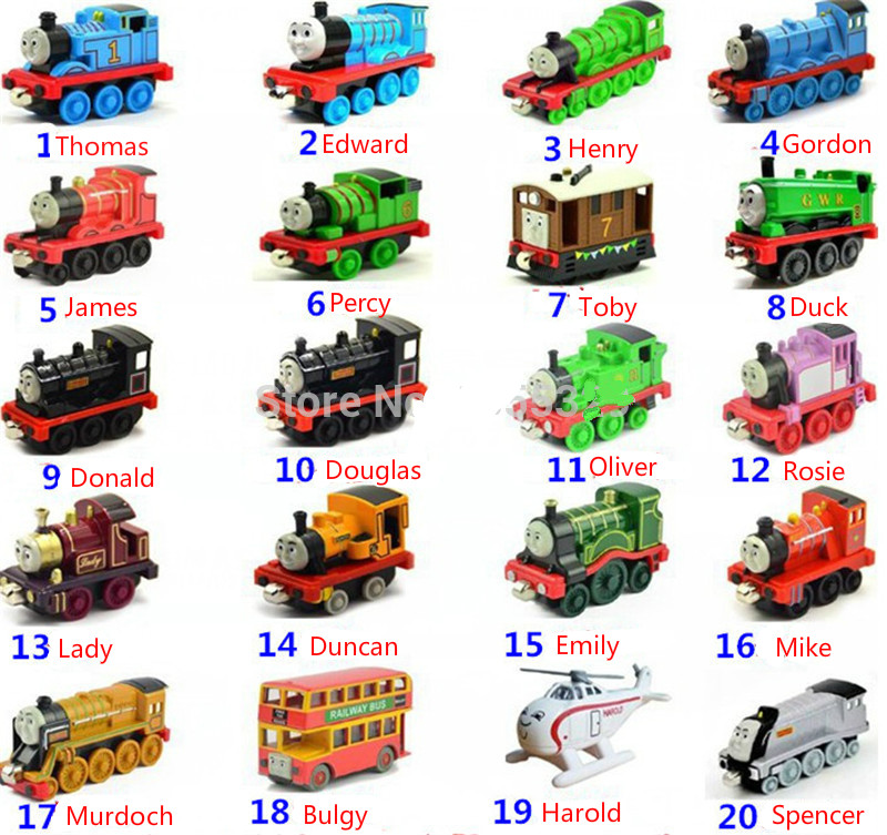 Thomas&Friends-10PCS Diecast Metal Trains Toy Thomas Train The Tank Engine Trackmaster Original Vehicle Toys For Children Gifts