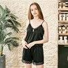 2 PieceS Luxury Plain Silk Pajama Set
