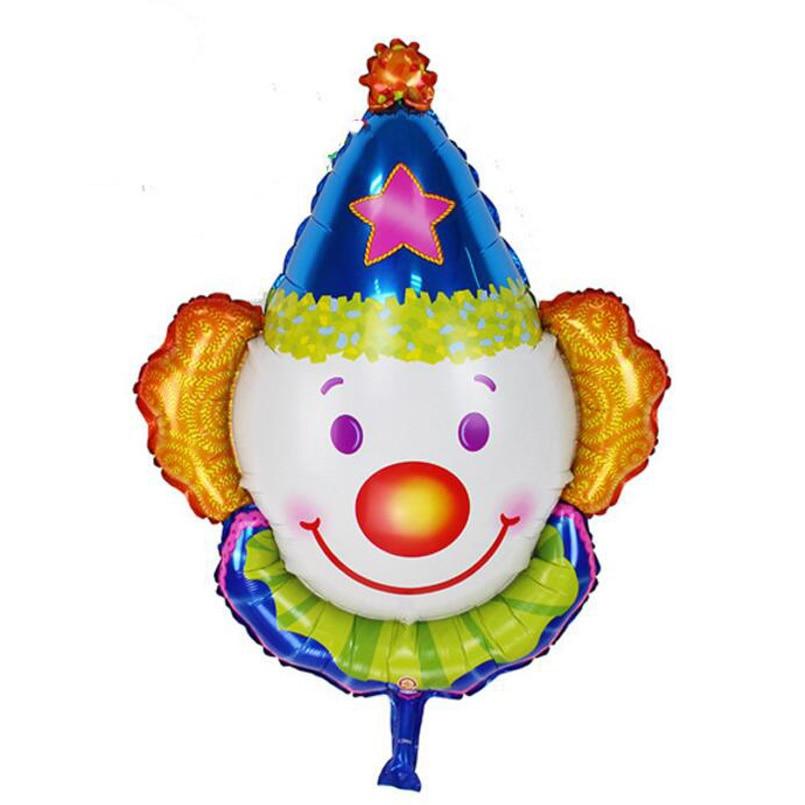 6pcs lager clown head foil helium balloons children inflatable toys