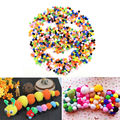 Wholesale 1000 Pcs 10mm Crafts Round Shaped Pompom Mixed Color Soft Fluffy Pom Pom for kids
