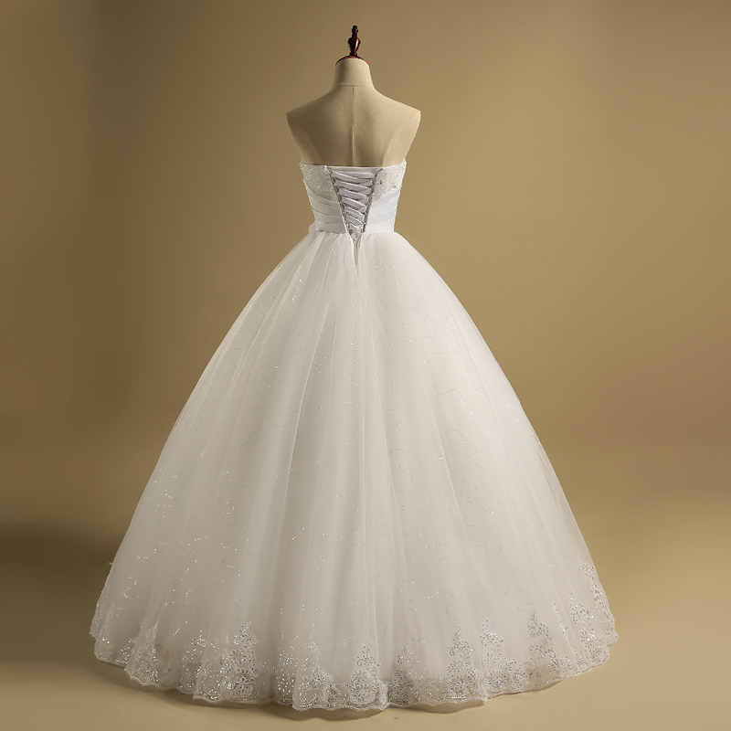 QQ Lover 2018 Bling Bling Ball Gown Wedding Dress With Detachable ...