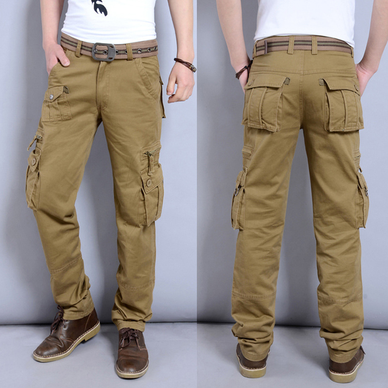 US Tactical Cargo Pants Mens Army Jeans Trousers Soldier Military Clothes Casual Breathable Cotton Baggy Camouflage Pants