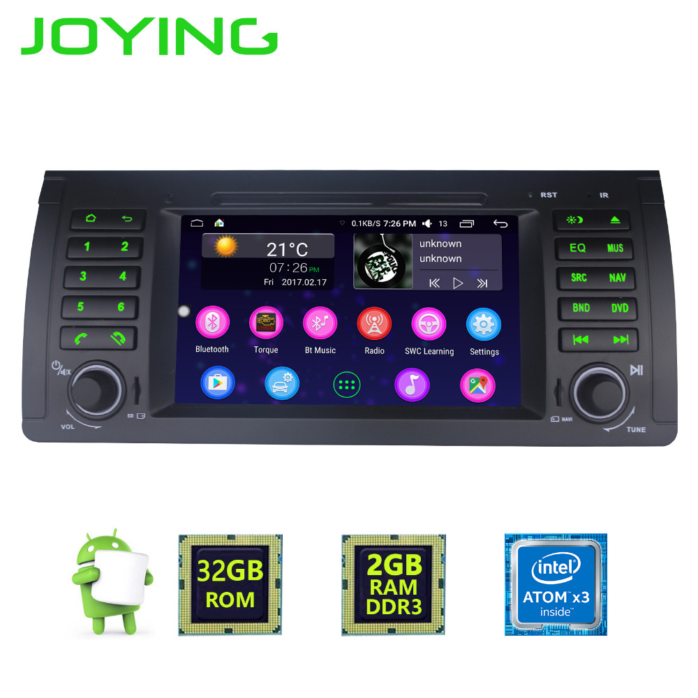 7 2GB RAM Android 6 0 car GPS Navigation head unit stereo for BMW E39 5