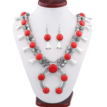 new European selling Vintage Synthetic stone Necklace pattern beaded necklaces wholesale fine jewelry one direction(China)