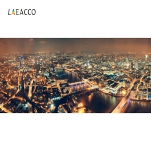 Laeacco City Buildings Night Scenic Portrait Backdrop Photography Backgrounds Customized Photographic Backdrops For Photo Studio