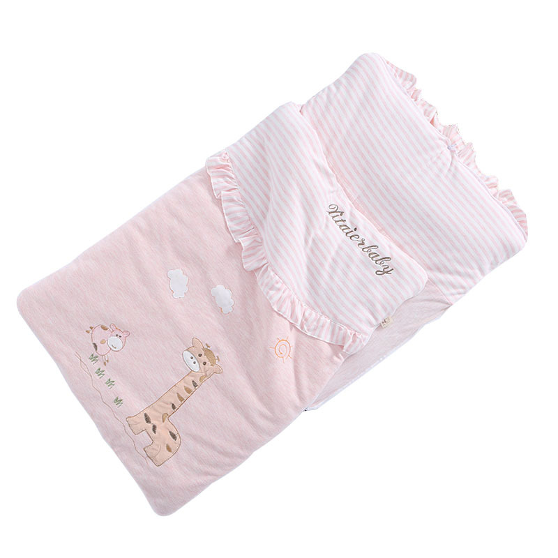 Baby Color Cotton Breathable Sleeping Bag Baby Cartoon Pattern Wrap Baby Multi-purpose Hug Is Sleeping Bag Baby Sleeping Bag