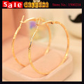 Europe Fashion Large Simple Personality Big Golden Statement Circle Round Hoop Earrings women 's Jewelry Wholesale