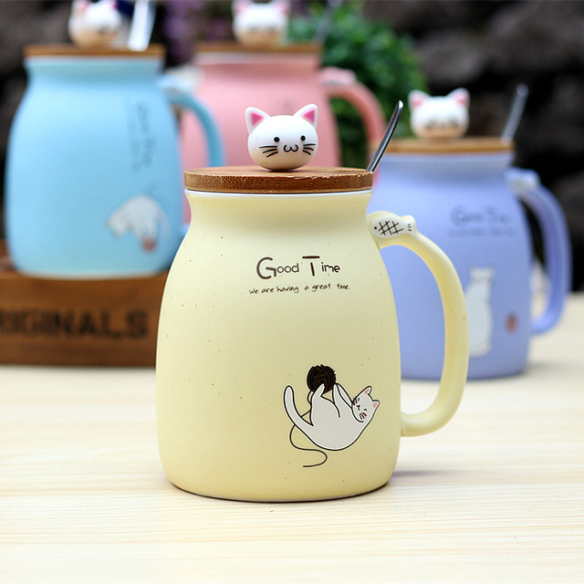 cat shape mug