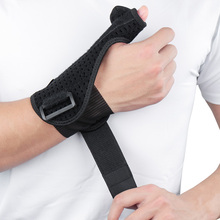1PCS Elastic Thumb Wristband Spring Steel Wrap Hand Palm Wrist Brace Right or Left Support Corrector Bandage