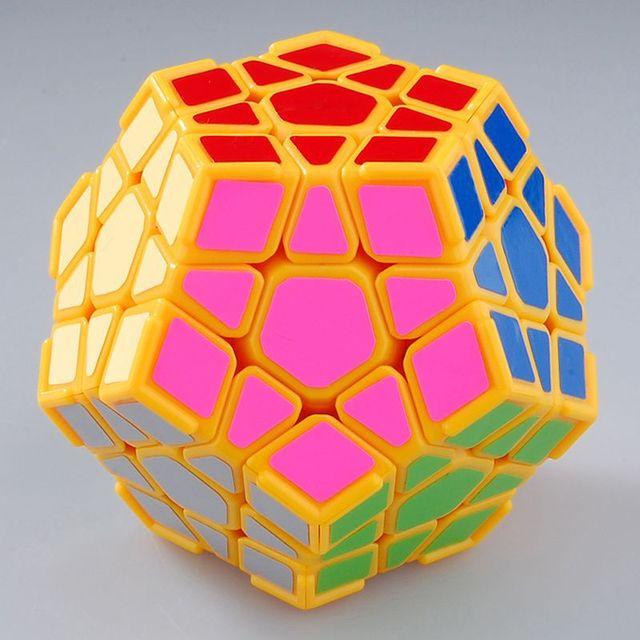 Dayan Megaminx I cubo mágico amarillo claro con esquina Ridges envío gratis educación Jigsaw cerebro Teaster juguete del rompecabezas para el niño