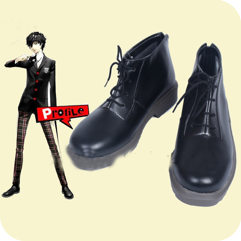 Persona 5 Protagonist Akira Kurusu Ren Amamiya Cosplay Shoes Boots Anime Halloween Carnival Party Costume Accessories