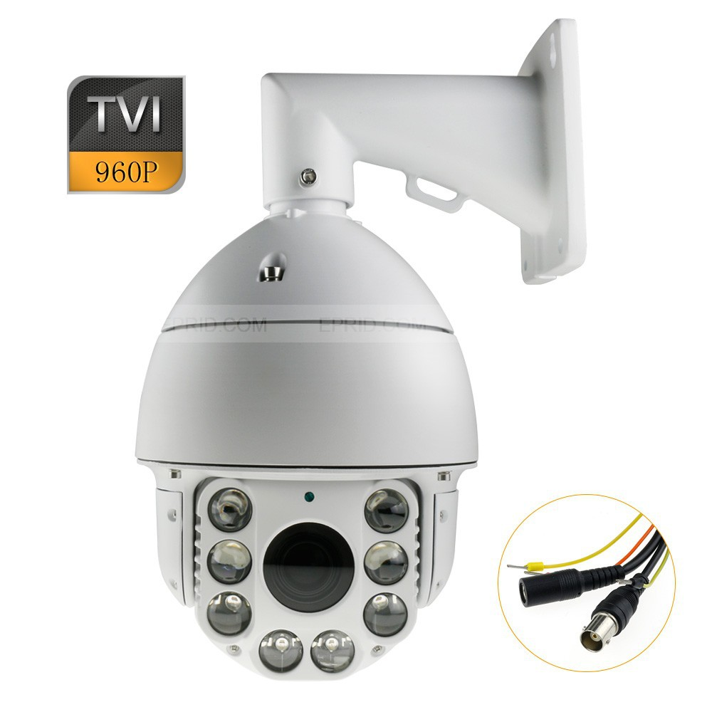 HD-TVI 1.3MP 960P 6 PTZ High Speed Dome Security Camera 20x Zoom IR-Cut 4 in 1 ir high speed dome camera ahd tvi cvi cvbs 1080p output ir night vision 150m ptz dome camera with wiper