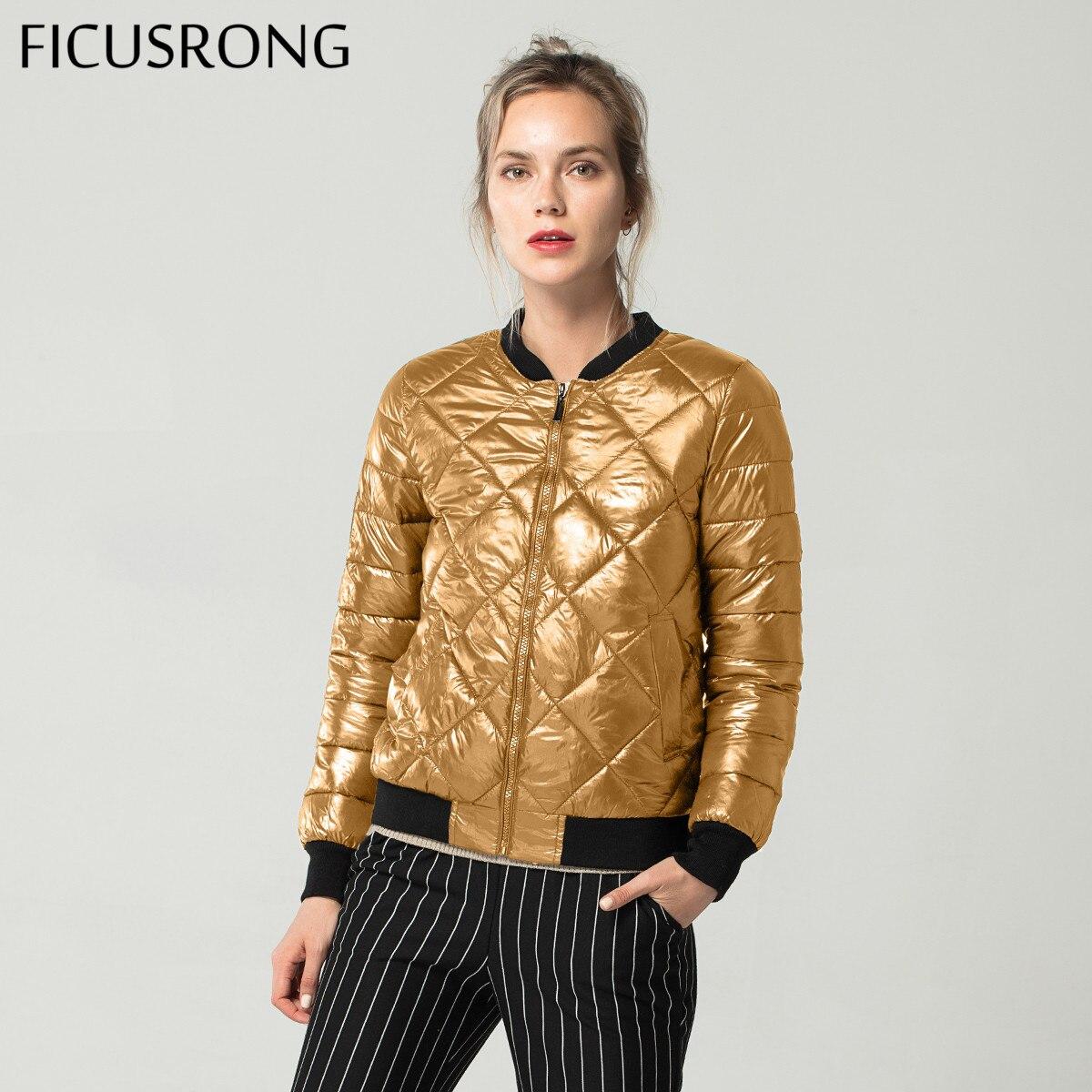 Fashion Autumn Winter   Jacket   Women Cotton Padded   Jacket   Girls Slim Female   Basic     Jacket   Coat Outwear Warm Tops FICUSRONG 2018 New