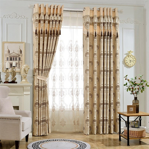 Image 3 - European luxury 3D embossed custom Blackout curtains for Living Room royal aristocratic curtains for Bedroom/Kitchen Windows
