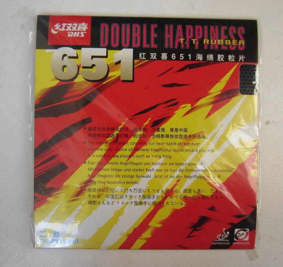 Original DHS 651 Tennis De Table En Caoutchouc tennis de table raquette sports d'intérieur boutons out rapide attaque sports de raquette