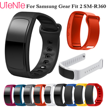 Watch band Luxury sport soft Silicone Watch Replacement wrist Band bracelet Strap For Samsung Gear Fit 2 SM-R360 watch Wristband bemorcabo 2pcs replacement wristband for samsung galaxy gear s sm r750 smart watch soft touch feeling tpu watch bracelet strap