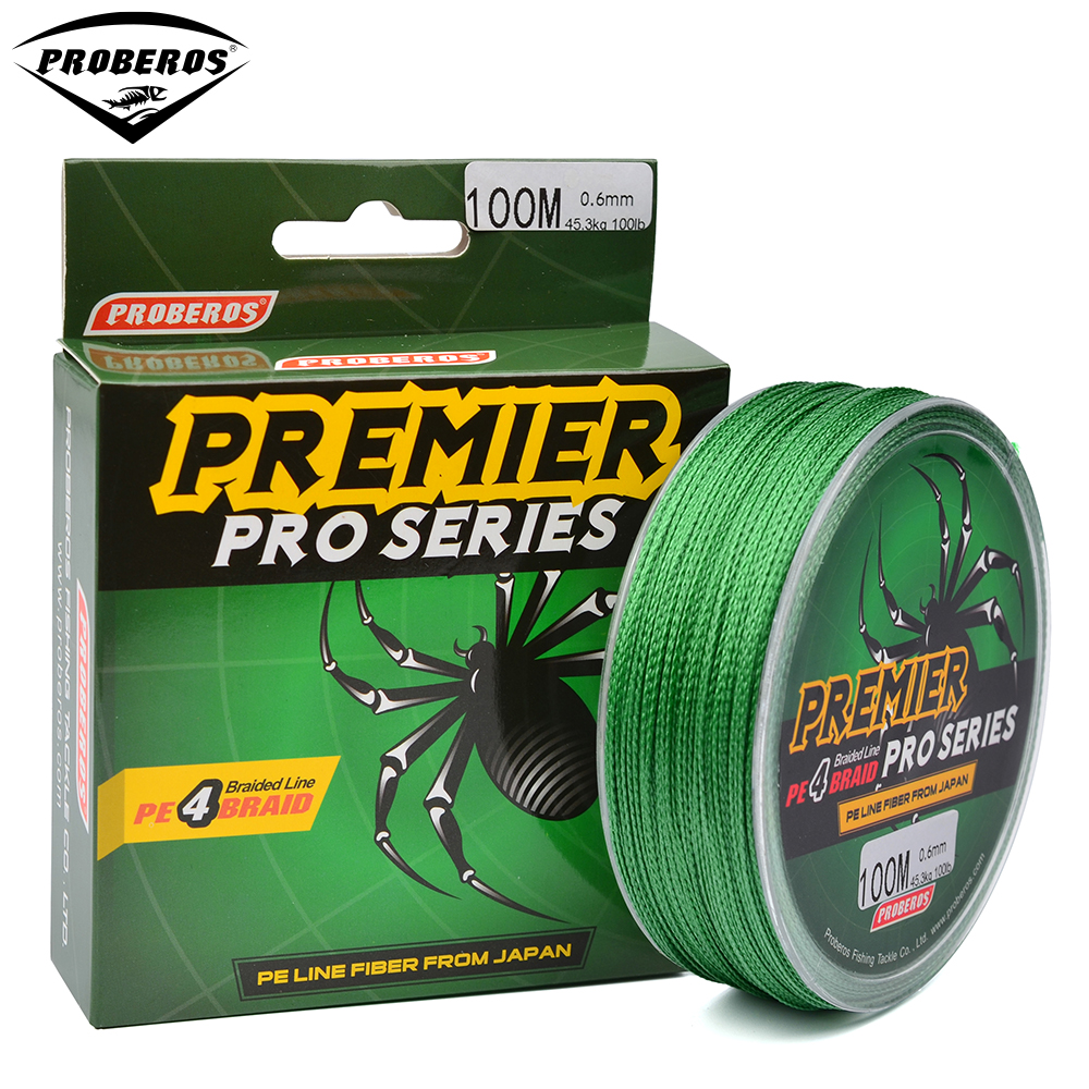 100m fishing line red green grey yellow blue braided for Best saltwater fishing line color