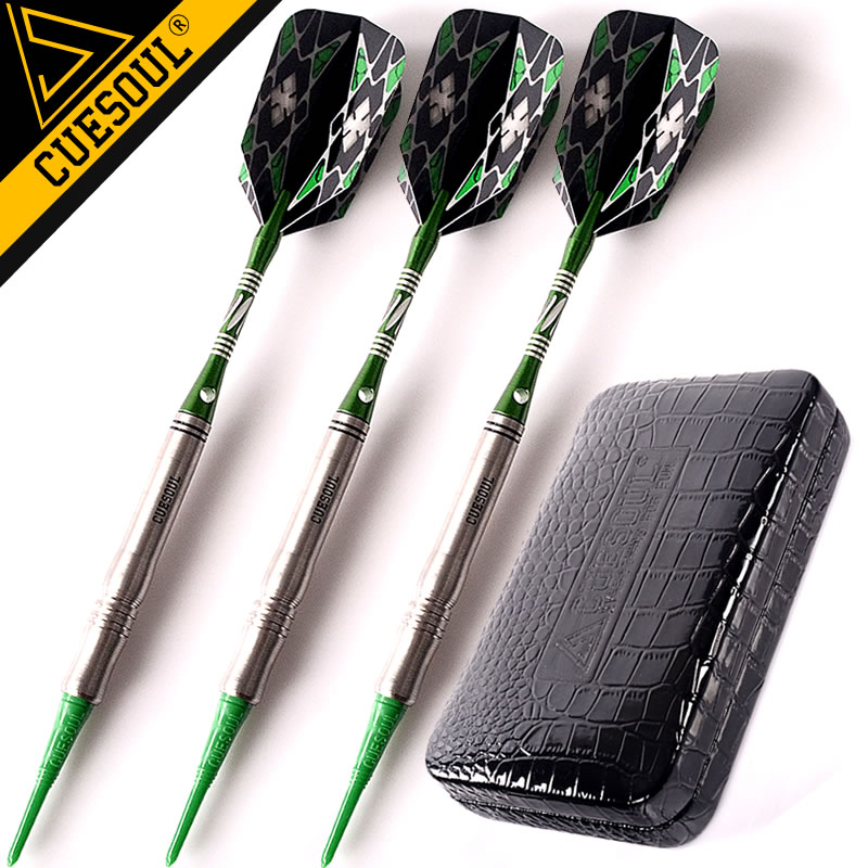 New CUESOUL Tungsten Darts Professional Soft Tip Darts 18g 15cm Electronic Dart Needle With Aluminum Darts Shafts  wmg08580 professional 18 soft tip electronic voice dartboard with 6 dart black multicolor