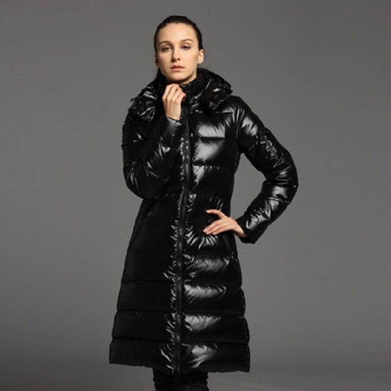 Lady 2xl Neige Capuchon Le Habits Longue De Noir Conception Manteaux Femmes À Duck Filles D'hiver Veste Vers Bas Down Outwear Vestes Mince ABfww1Tq