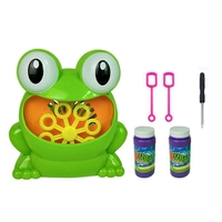 1 Set 2018 New Cute Frog Automatic Bubble Machine Blower Maker Party Summer Outdoor Toy For Kids