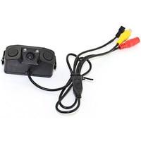 3 EN 1 Video Sensor de Aparcamiento Del Revés Del Coche de Visión Trasera de Copia de seguridad cámara con 2 Indicador Anti Detector de Radar Sensores de Alarma BiBi Coche Cam