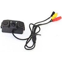 3 IN 1 Video Parkeersensor Auto Reverse Backup Achteruitrijcamera Camera met 2 Radar Detector Sensoren BiBi Alarm Indicator Anti Auto Cam