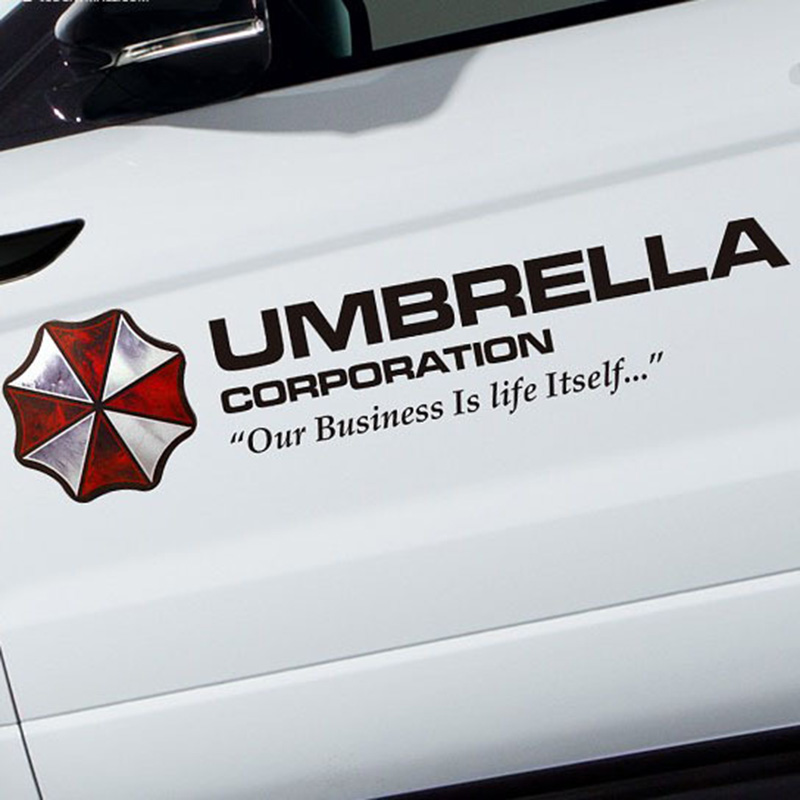 35/50/75/90cm Film Colored Umbrella Corporation Biological Hazard Car Styling PVC Sticker Side Door Body Garland Refitting Decal