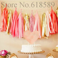 14 Inch 5x Tissue Tassel Garland Paper Banner Party Supplies DIY Wedding Bunting Nursery Decor Baby Shower Birthdays Decorations