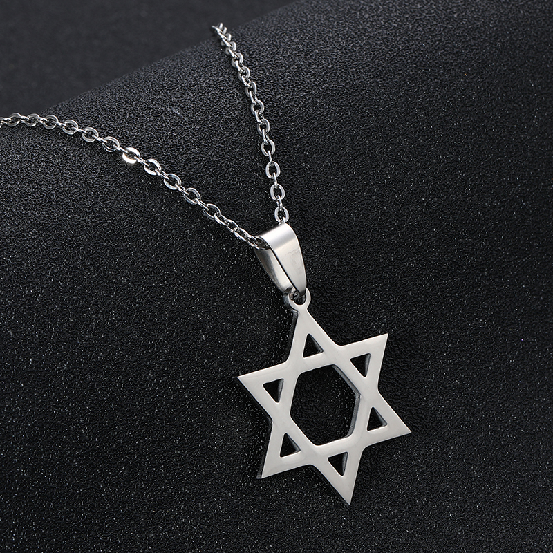 Men Religious Hexagram Jewish Star of David Pendant Talisman Necklace Amulet