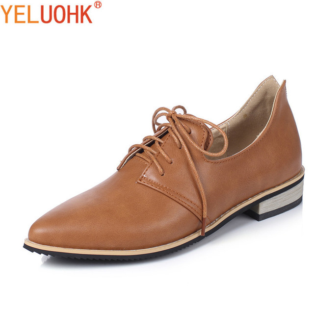 585e9d90203a 34-43 Oxfords Shoes For Women Big Size Flat Shoes Women Formal Dress Women  Autumn Shoes