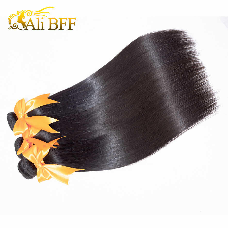 ALI BFF włosy wyplata wiązki 3 zestawy brazylijski prosto 100% doczepy z ludzkich włosów Remy włosy 3 sztuk naturalny kolor może być barwione