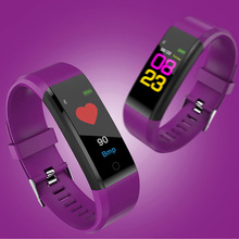 купить Intelligent Wristband Fashion Design Health Monitoring Information Push smart tips Blood Pressure Monitoring Movement Tracking по цене 976.97 рублей