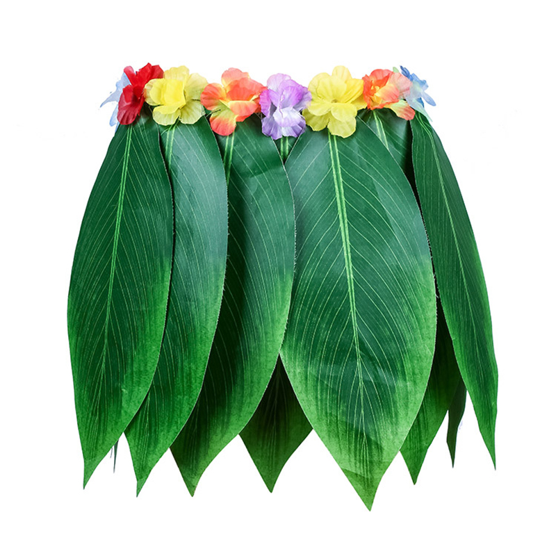 Party Decorative Hula Skirt The Tropical Style Hawaiian Leaves Skirt Summer Party DIY Props For Costume Party