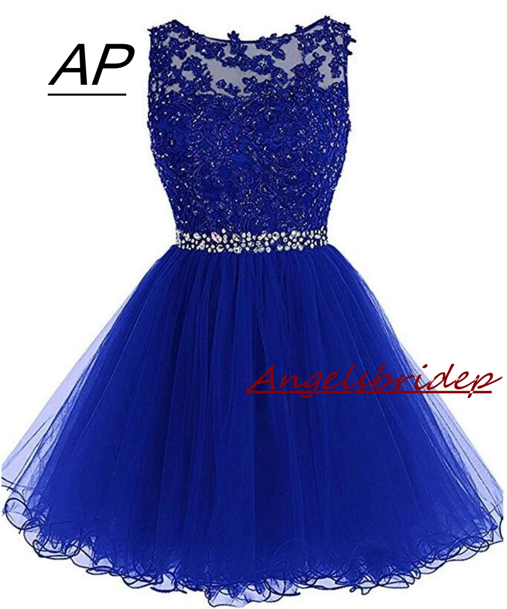 ANGELSBRIDEP Sexy Short Mini Homecoming Dresses 2019 With Appliques Beading Vestidos Cortos Special Occasion Graduation Dresses