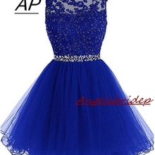 f32cf5077ae ANGELSBRIDEP Sexy Short Mini Homecoming Dresses 2019 With Appliques Beading  Vestidos Cortos Special Occasion Graduation