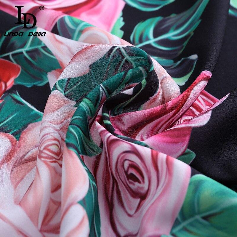Impresión Floral Moda Camisas Ld Blusas Camisa Linda Mujeres Della Larga Elegante Manga Gasa Multiple Superior De Rosa Casual Vintage Hqf6vwnHz