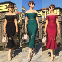 Adyce 2019 vestidos 新夏黒包帯ドレス女性のセクシーなオフショルダーミディワインレッドグリーンセレブパーティークラブドレス