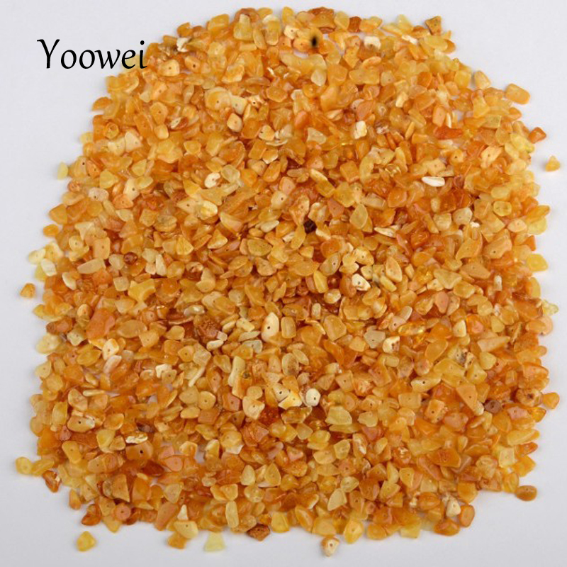 Yoowei Irregular Natural Amber Loose Beads for diy Baltic Original Amber Supplier Chips Beads for Etsy Jewelry Seller 3 Optional(China)