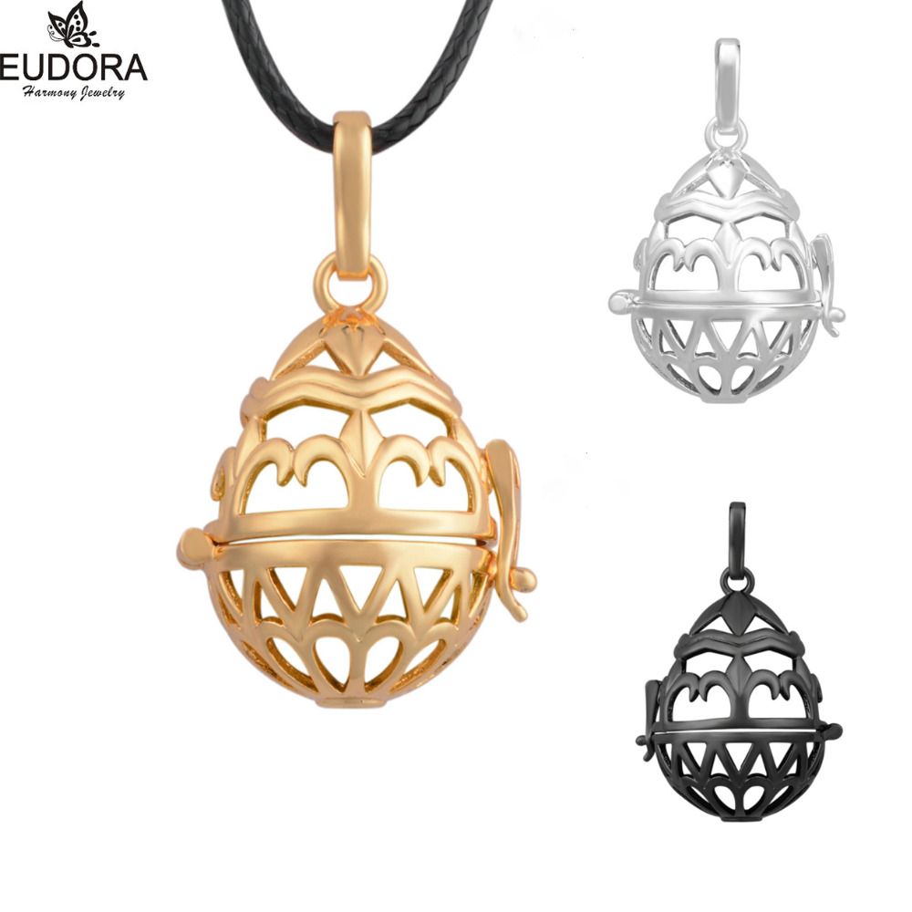 5PCS Mexican Bola Locket Cage Pendants Wholesales Copper Locket Cage for 20mm Eudora Harmony Ball Necklace Jewelry