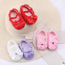 Baby Shoes Branded Newborn Girl Boy Soft Sole Crib Toddler Shoes Canvas Bow first walkers shoes Sneaker Casual Free Shipping