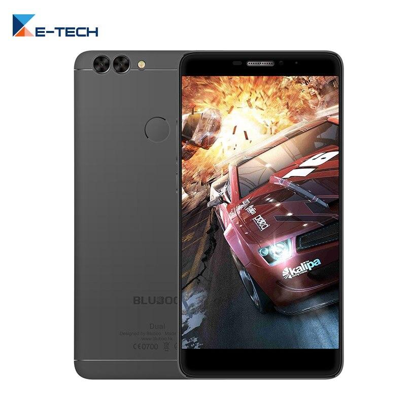 Цена за Bluboo Dual MTK6737T Quad core 5.5 Дюймов 2 ГБ RAM 16 ГБ ROM Сотовый телефон 13.0MP + 2.0MP Задняя Камера Отпечатков Пальцев 4 Г Мобильный телефон