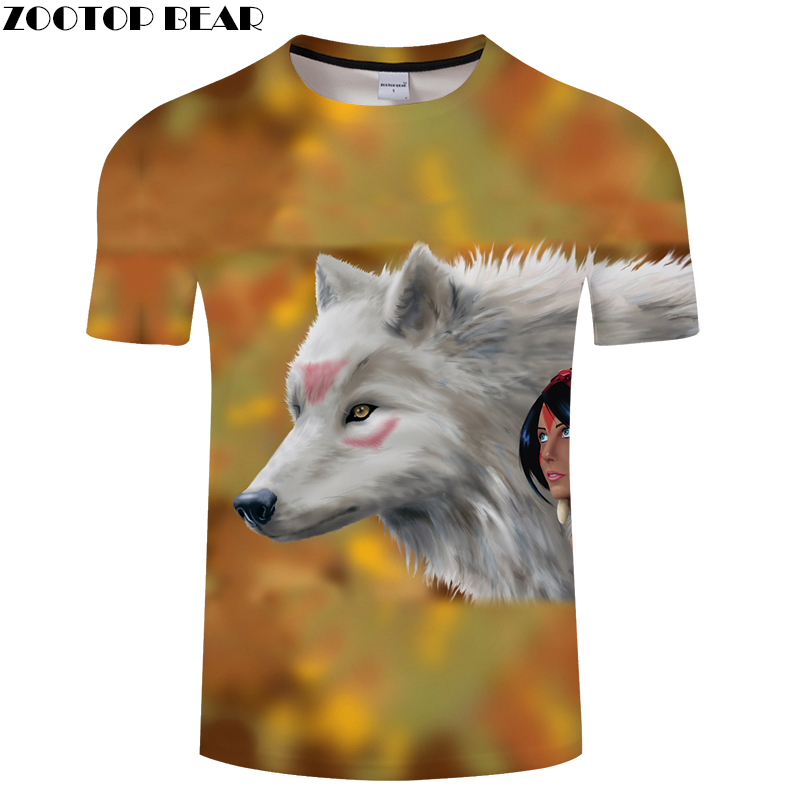 Beauty 3D tshirt Men Wolf t shirt Streetwear t-shirt Casual Tee Print Top Funny Camiseta Short Sleeve O-neck DropShip ZOOTOPBEAR