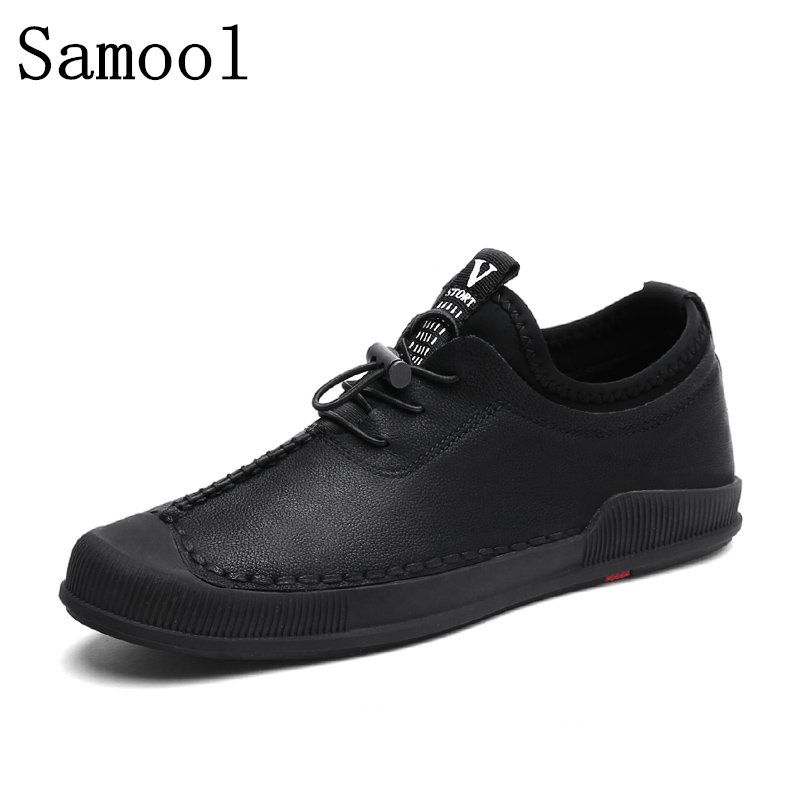 2018 Winter Fashion Comfortable Men Shoes Lace-up Genuine Leather Shoes Keep Warm With Fur & Plush Casual Male Shoes WX6 genuine leather men casual shoes wool fur warm winter shoes for men flat lace up casual shoes men s flat with shoes fashion