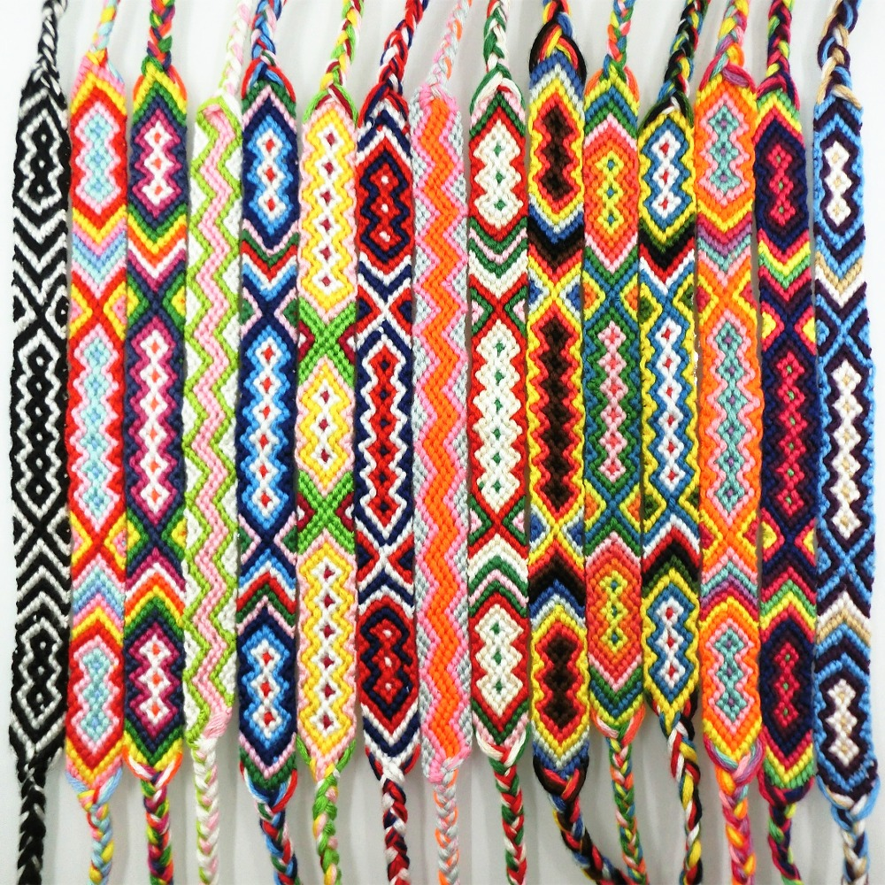 AMIU Friendship Armbånd Dropshipping Personlig Vevet Tau String Hippy Boho Cotton Populær Bohemia Style For Women And Men
