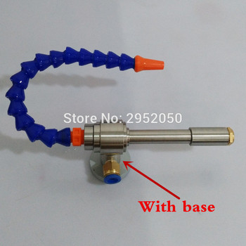Free shipping Vortex Hot and Cold Air Dry Cooling Gun with Flexible Tube with Switch Heatproof 145mm with base