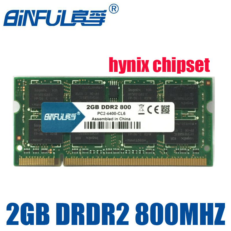 BiNFUL 2G 2GB PC2 6400 DDR2 667MHz 800MHz Laptop RAM notebook memory RAM Use original /hynix chipset