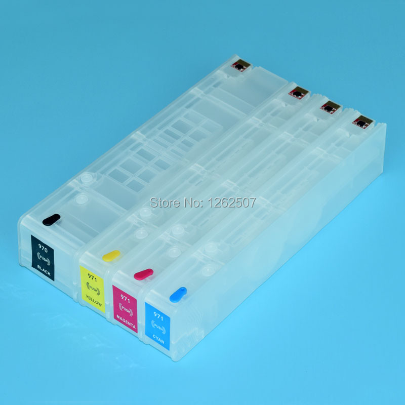 Best selling refill ink cartridge for hp Officjet Pro X451dn for hp 970 971 with arc chip