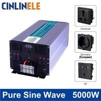 スマート純粋な正弦波インバーター5000ワットCLP5000 dc 12ボルト24ボルト48ボルトに交流110ボルト220ボルトスマートシリーズソーラーパワー5000ワットサージ電力10000ワット