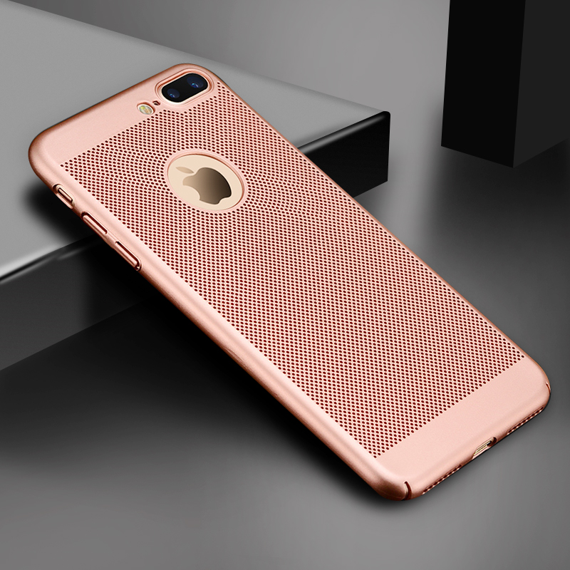 HTB1yJXZesnI8KJjSspeq6AwIpXaR - Ultra Slim Phone Case For iPhone 6 6s 7 8 Plus Hollow Heat Dissipation Cases Hard PC For iPhone 5 5S SE Back Cover Coque X S MAX